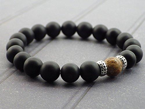 bracelet-pour-homme-en-perles-dagate-et-perle-en-jaspe