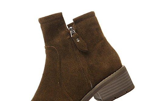 YYH Vintage Martin bottes femelle British Style étudiants gommage hiver filles cheville bottes chaussures talons Khaki