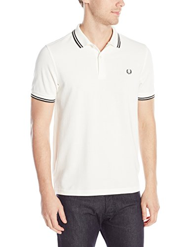 FRED PERRY FP Twin Tipped Shirt, Maglietta Uomo, Snow White, XL