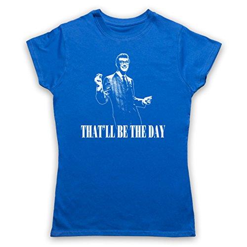 Inspiriert durch Buddy Holly That'll Be The Day Unofficial Damen T-Shirt Blau