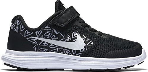 Nike Nike Revolution 3 Print (Psv) - black/white-lava glow Schwarz