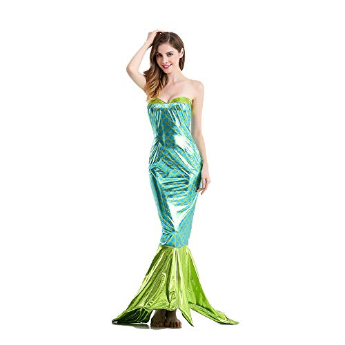 Sexy Adult Kostüm Kleid Meerjungfrau - HYMZP Kostüm Damen, Adult Karneval Meerjungfrau Bühnenkostüm Rollenspiel Kleid, Halloween Party Sexy Party Uniform,XL