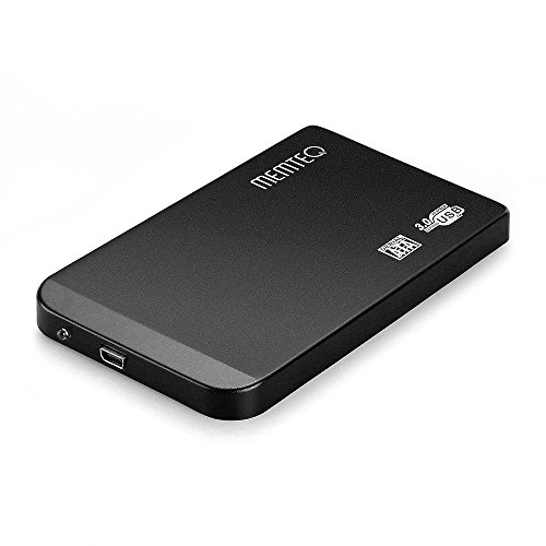 "MEMTEQ 2.5 Inch Hard Drive Enclosure SATA USB 3.0 HDD External Enclosure Case 2.5"" SATA HDD SSD Compatible with Windows and MAC Systems, 2.5"" HDD SATA Enclosure for PC and Laptop Tool Free Black"