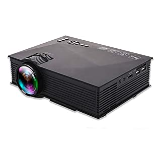Bnice WIFI Projector Mini Video for Home Movie Game LED 1080P High-Definition Chip 138 - Inch Screen 3D Audiuo and Visual Effect USB Flash Disk SD HDMI AGD Office Party Fast Heat Dissipation
