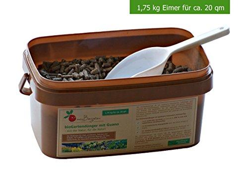 BIO-Dünger mit Guano einsetzbar als Gemüse-Dünger, Kräuter-Dünger und Obst-Dünger sorgt der Pflanzen-Dünger für ein langzeitiges Wachstum (N-P-K 8:4:6) - Größen: 0,6, 1,75 und 4 kg