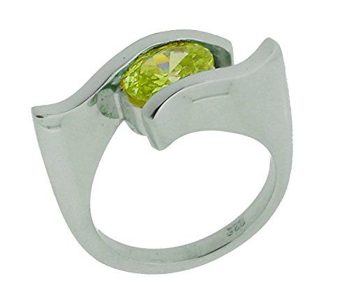 Orphelia Damen-Ring 925 Sterling Silber mit Zirkonia grn Gr.52 ZR-3384/52 -