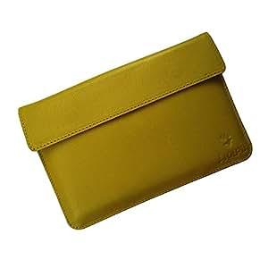 i-KitPit : Genuine Leather Pouch Case For Google Nexus 7 (YELLOW)