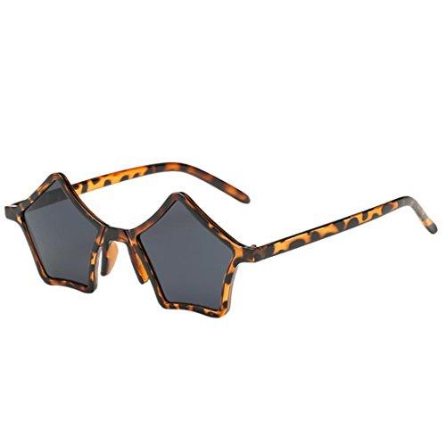 LeeY Polarisierte UnisexFahrradbrille UV Schutz Radbrille Superleichtes Rahmen Sport Brille-Pentagramm Sonnenbrille für Myopie Brille im Freien/Fahren/Angeln (Mehrfarbig D)
