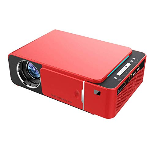 SHIYN Mini Projector, 1080P Full HD Movie Projector, Life Home Theater Video Projector LED Film Projector Mini Portable Mobile Projector (red) Mobile Home Theater Video