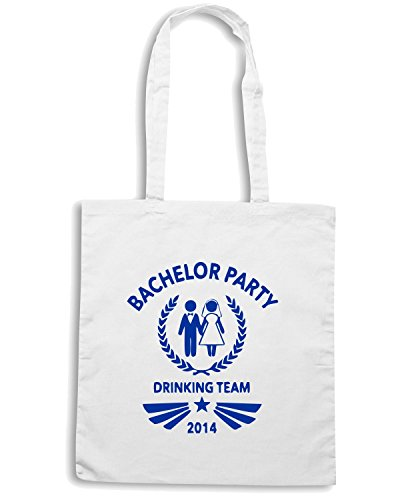 T-Shirtshock - Borsa Shopping MAT0004 Bachelor Party 2014 Team Maglietta Bianco