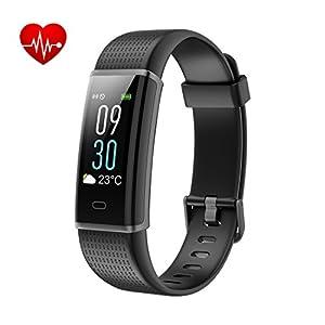 Yuanguo Fitness Armband Aktivitätstracker mit Pulsuhren Schrittzähler Kalorienzähler Schlafmonitor Wasserdicht IP68 Sportuhr Smart Watches und Farbbildschirm für Damen Kinder