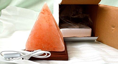 Lampada di sale salgemma dell'himalaya piramide