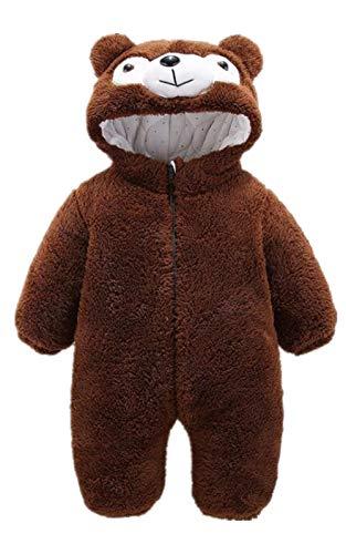 Baby Teddy Overall Jacke, Baby Strampler Pyjama kostüm Jumpsuit - Teddy Baby Kostüm