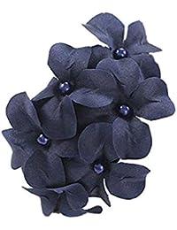Demarkt Accessoires cheveux - Epingle cheveux pour Femmes avec Six Fleurs en Bleu Fonce