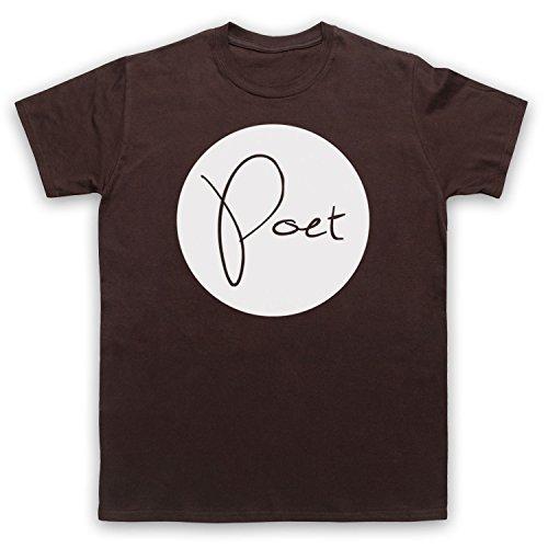 Poet Hipster Herren T-Shirt Braun