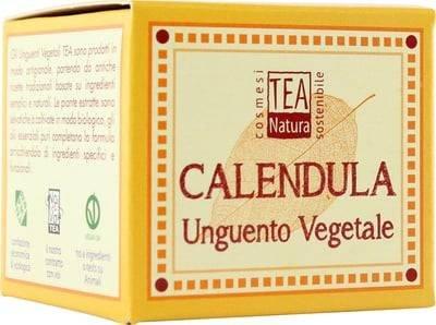 TEA NATURA Unguento Vegetale alla Calendula - Trattamento ecobio alla calendula - Particolarmente indicato per la pelle sensibile e per i bambini - Lenitivo - Sfiammante - Cicatrizzante - Vegan -50 ml