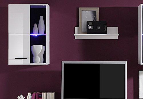 Wohnwand –  Moderne Wohnzimmer Anbauwand in weiß kaufen  Bild 1*