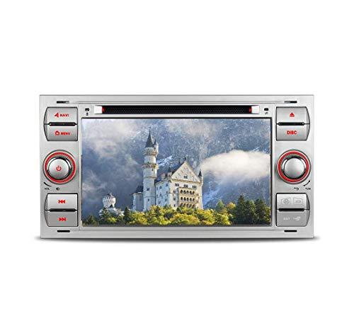 "Mit 16GB SD Karte 7"" AUTORADIO DVD GPS Navigation USB SD Bluetooth Autoradio CD Moniceiver+Bluetooth+ Dual Zone+Subwoofer+DAB+Mirrorlink+VMCD Für Ford Transit Focus C/S-Max Galaxy Kuga Fusion Fiesta"