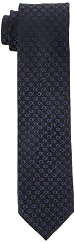 Calvin Klein Herren Krawatte Slim 6.4 cm, Schwarz (Black 001), One Size