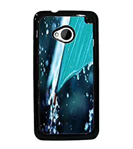 PrintDhaba Rain D-2288 Back Case Cover for HTC ONE M7 (Multi-Coloured)