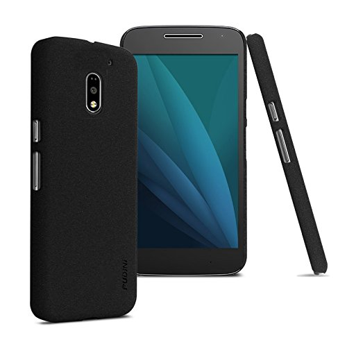 Tarkan QuickSand Moto E3 Power Case: Matte Slim Hard PC Bumper Back Cover For E 3rd Generation POWER [Sandstone Black]