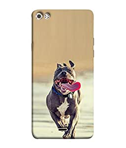 PrintVisa Scary Dog 3D Hard Polycarbonate Designer Back Case Cover for Micromax Canvas Sliver 5 Q450 :: Silver Q450