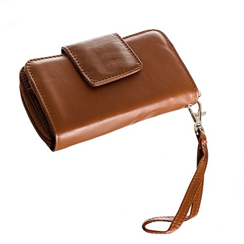 Diva Clutch Wallet (Limited Edition Leather Wristlet (Wildwod Bark))