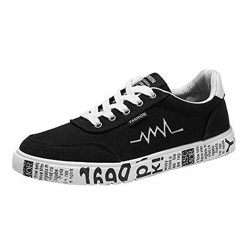 Zapatos de Lona para Hombres SUNNSEAN al Aire Libre con Cordones de Soles Cómodos Zapatos Deportivos para Correr Zapatillas para Montañismo Senderismo Viajes Calzado de Verano