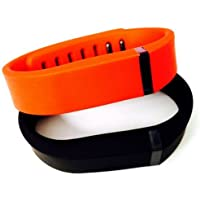 Comparador de precios ! Small S 1pc Black 1pc Red (Tangerine) Replacement Bands + 1pc Free Small Grey Band With Clasp for Fitbit FLEX Only /No tracker/ Wireless Activity Bracelet Sport Wristband Fit Bit Flex Bracelet Sport Arm Band Armband by Pl - precios baratos