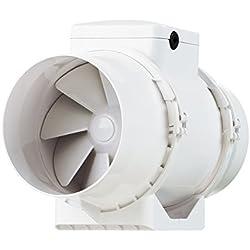 Vents TT-100TT Extracteur d'air Blanc 100mm