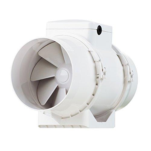 Vents tt-100 - ventola di aspirazione in linea, a flusso misto, 1 unità da 100mm, colore:bianco