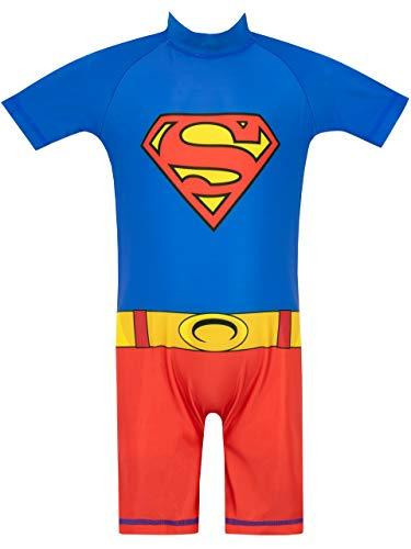 DC Comics Jungen Superman Badeanzug Mehrfarbig 110