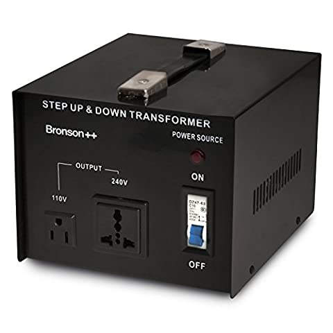 Bronson++ VT 3000 - 110 Volt Transformer - 3000 Watt USA Voltage Converter - Step Up / Down - UK Plug - 110V 3000W Bronson