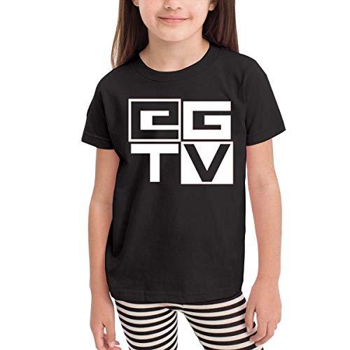 Kinder Jungen Mädchen Shirts EthanGamerTV T Shirt Kurzarm T-Shirt Für Kleinkind Jungen Mädchen Baumwolle Sommer Schwarz 4 T -