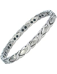 Theia Titanium 0.06ct Diamond Set Triple Embossed Bangle
