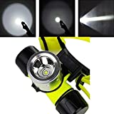 Hangang 1800lm T6LED AAA/18650nuoto Diving faro luce impermeabile immersione Head Light torcia Diver Diving Headlamp torcia lampada impermeabile con caricabatterie e Bestsun protetto 18650batterie