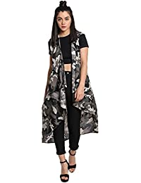 The Silhouette Store Camouflage Print Maxi Shrug