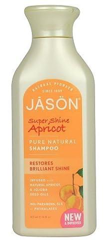 JASON Super Shine Apricot Shampoo, 16 Ounce Bottles (Pack of 3) by Jason Natural Cosmetics (English Manual)