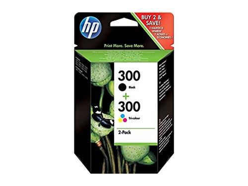 Original Tinte passend für HP DeskJet F 4500 Series HP NO 300 CN637EE - 2x Premium Drucker-Patrone - Schwarz, Cyan, Magenta, Gelb - 2 x 4 ml