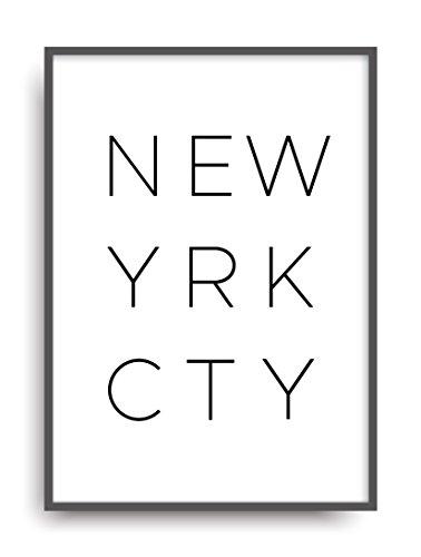 New York City Fine Art (Moderner Vintage Poster Druck NEW YORK CITY Fine Art Kunstdruck Deko Bild Print Plakat DIN A4 Geschenk)
