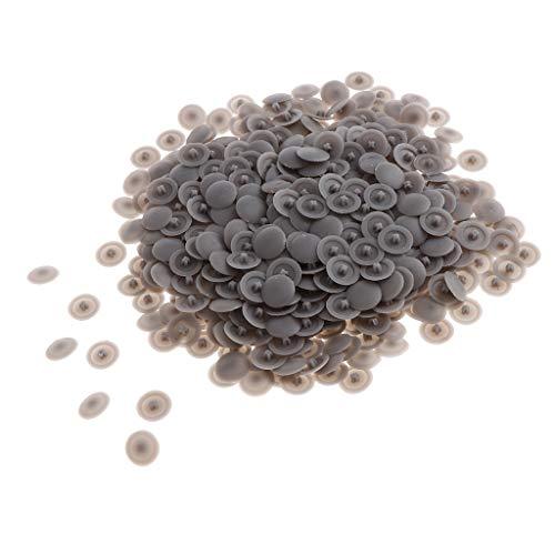 B Baosity 500 Stück Knopf schrauben zier Abdeckung Kunststoff Muttern Schrauben deckt außen Schutzkappen - Grau (Kunststoff-knopf, Muttern)