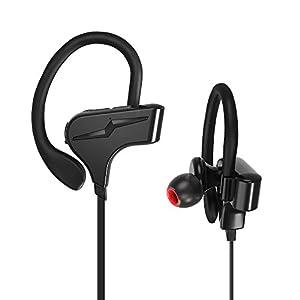 Giaride Bluetooth Kopfhörer 4.1 Hallo-Fi Stereo Sport-Ohrhörer mit Intelligenter Sprachsteuerung, Mikrofon, IPX7 Wasserfeste in Ohr-Ohrhöre für iPhone, iPad, Samsung