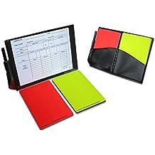 Ease, Set di carte taccuino arbitro, carte da calcio arbitro rosso e giallo carte sostitutive fogli per taccuino (giocattolo)
