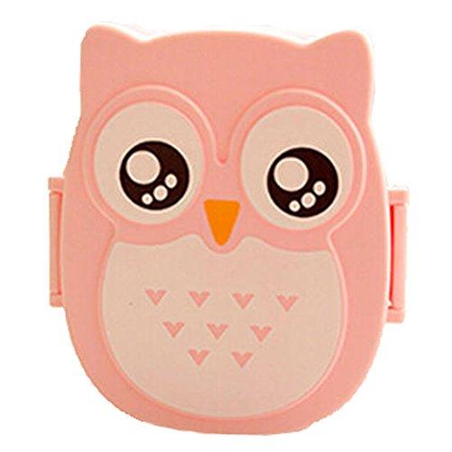 donalworld enfants Cartoon Owl Boîte Bento Lunch Box Boîte alimentaire boîte de rangement portable Multicolore Motif 1 m