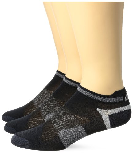 Asics Unisex Schnell Lyte Low Cut Athletische Socken, Black, Medium (Asics Low-cut Socken)