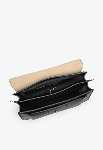 BREE, Borsa a spalla donna beige naturale 27 cm x 19 cm x 14 cm (BxHxT) black