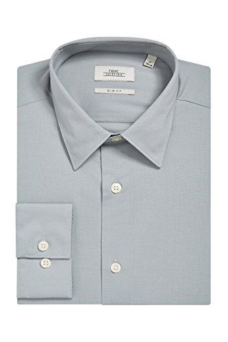 next Uomo Camicia Elasticizzata Vestibilità Slim Vestibilità Slim Verde