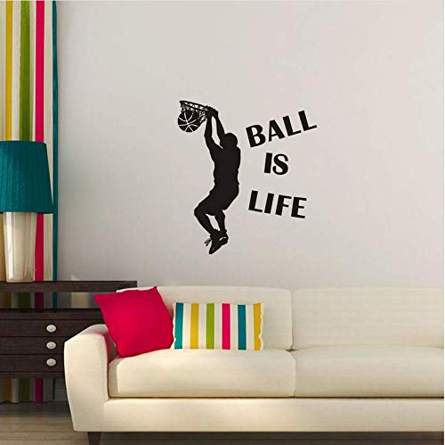n Sport Spielen BasketballWandaufkleber Tapete Poster Dekor Aufkleber Abnehmbare Heißer Verkauf Mode Home Decoration54 * 60Cm ()