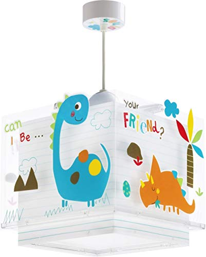 Dalber Dinos Lámpara Colgante E27, Multicolor, plástico