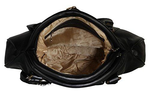 Butterflies Designer Kunstleder Beiläufige Schulter Damen Tasche Handtasche Schwarz